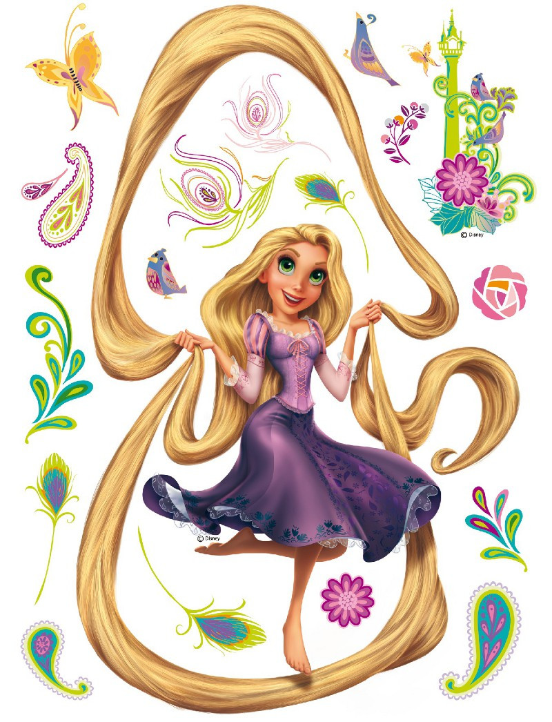 Sticker géant Princesse Raiponce Cheveux Disney