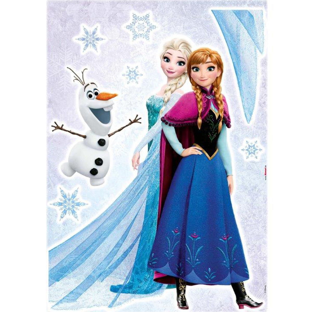 Stickers géant Trio La Reine des Neiges Disney