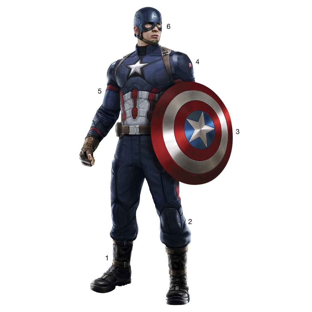 Stickers Avengers Civil War Captain America Marvel