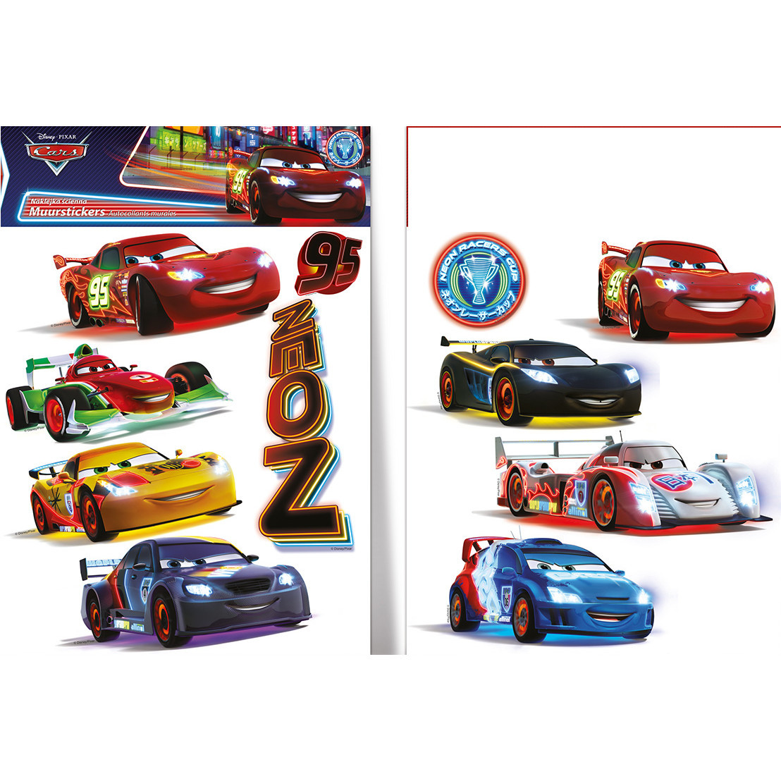 11 Stickers repositionnables Cars Disney