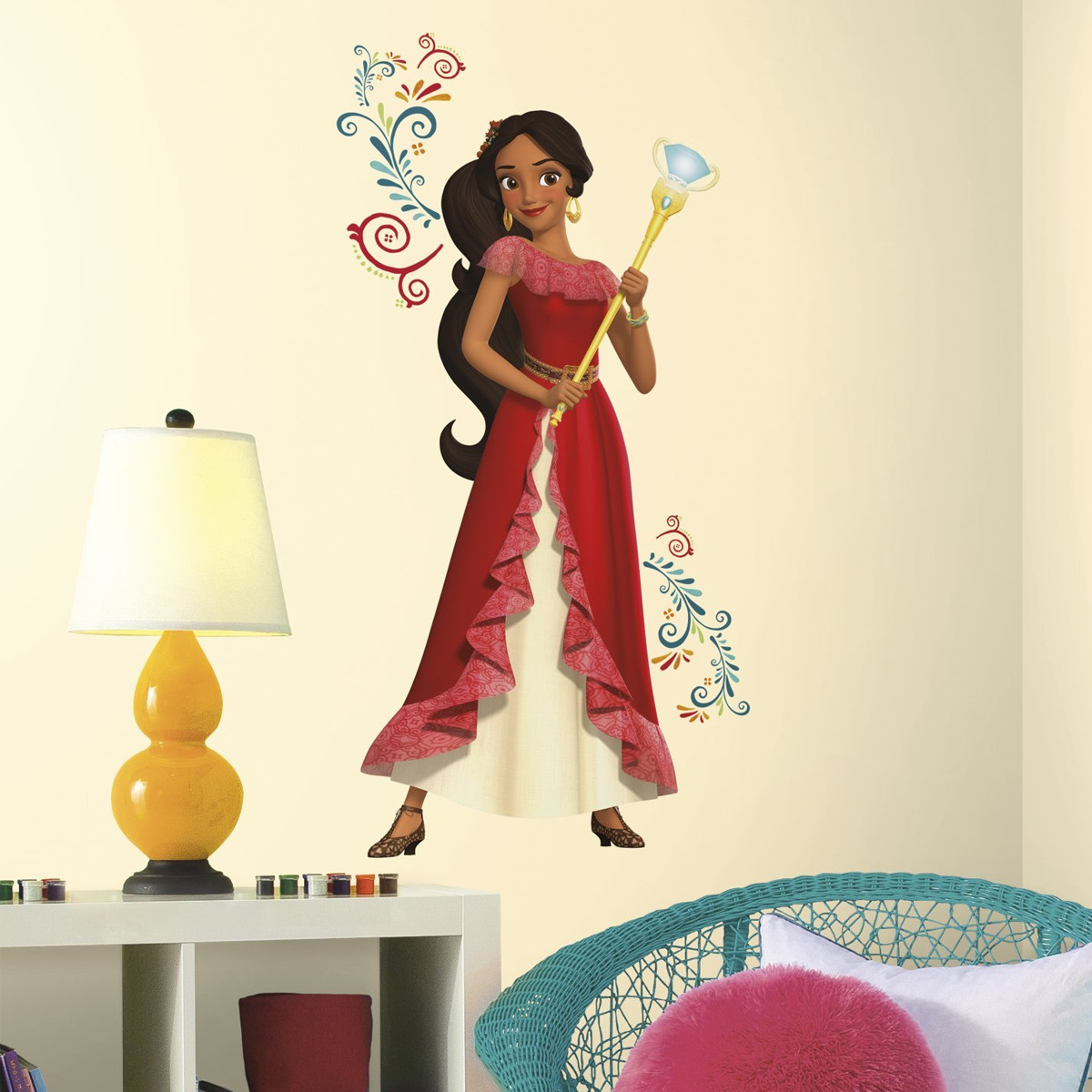 Sticker géant Sceptre Elena d'Avalor Disney 46X100 cm