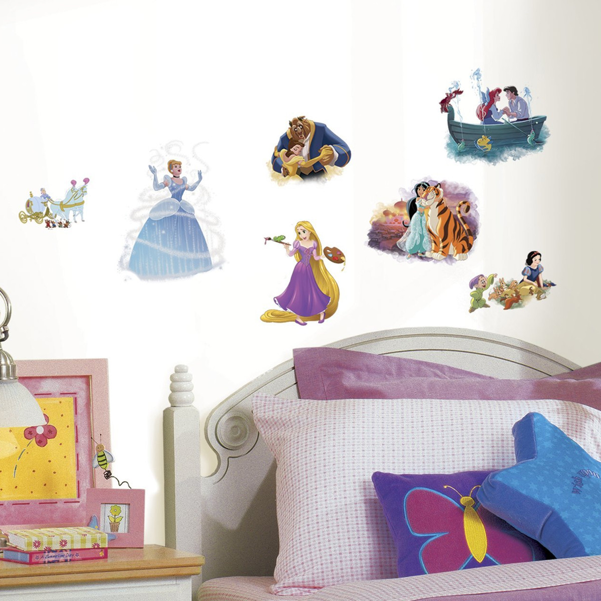 22 Stickers Toutes les Princesses Disney Repositionnables