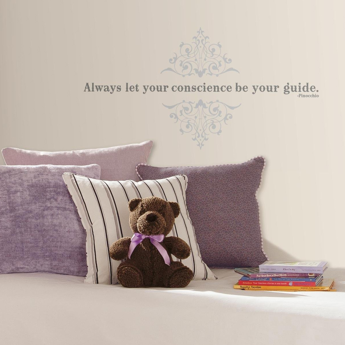 "Stickers phrase Pinocchio ""Always let your conscience be your guide"" Disney"