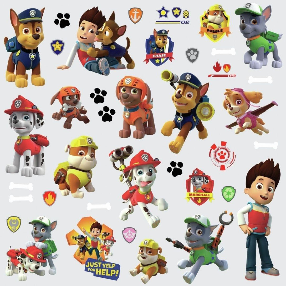 37 Stickers personnages Pat' Patrouille