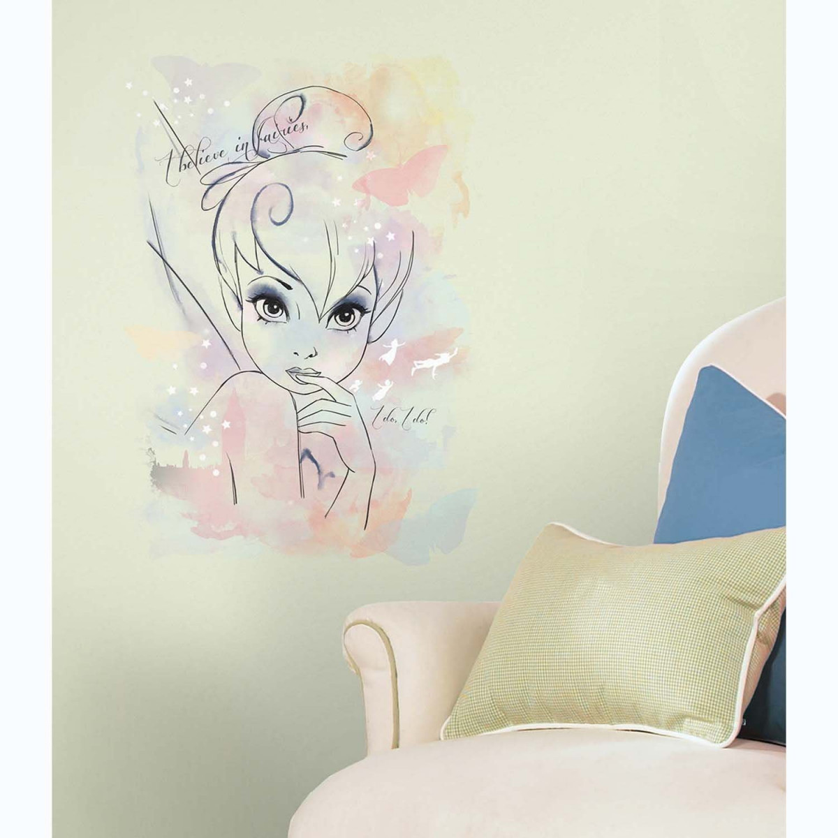 Stickers géant I believe in fairies Fée Clochette Disney Fairies