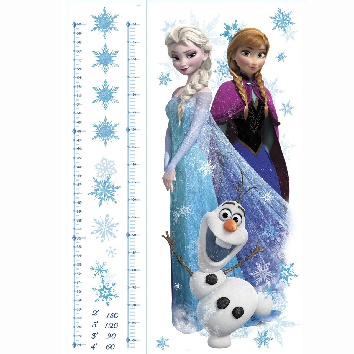 Stickers géant Toise La Reine des Neiges Disney