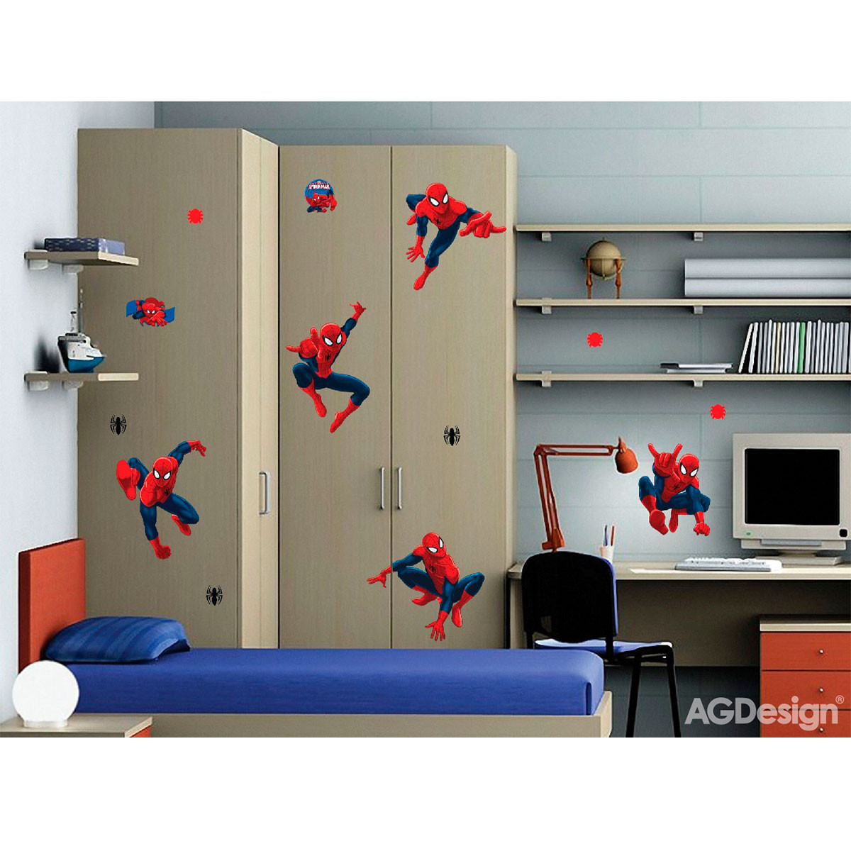 Stickers géant Spiderman Postures