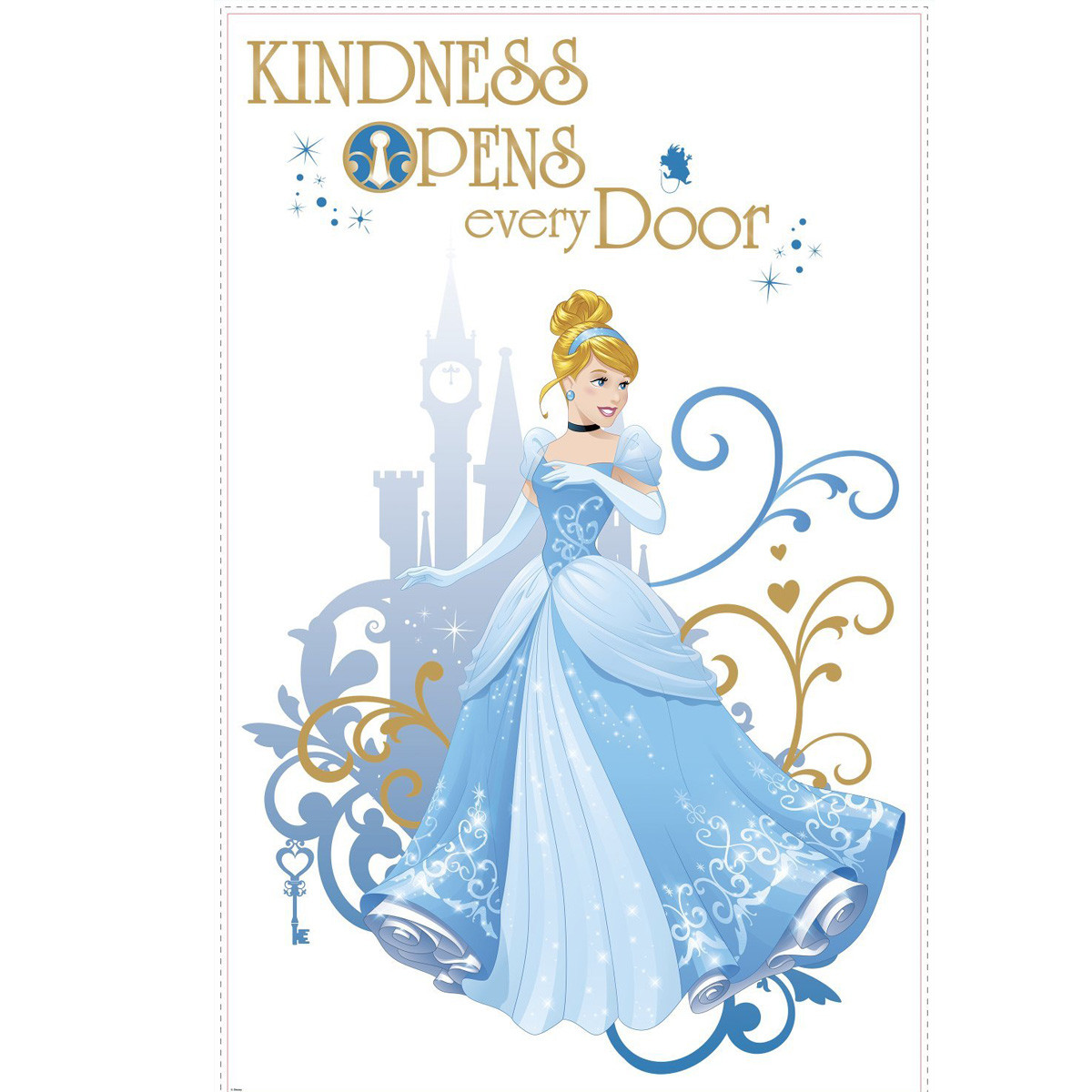 Sticker géant Kindness Princesse Cendrillon Disney