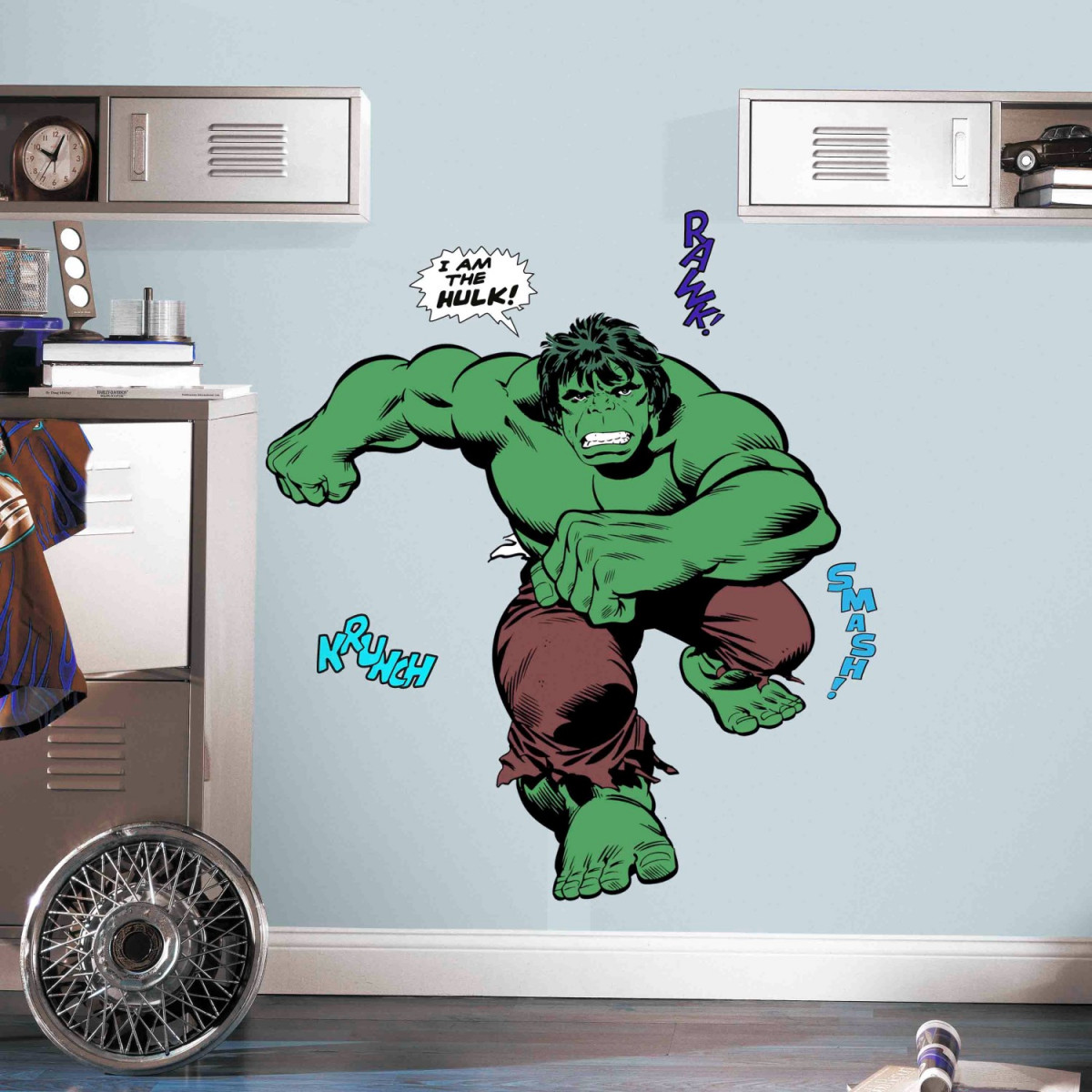 Stickers géants Marvel modèle Hulk