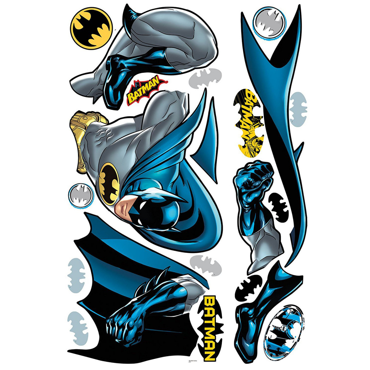 Sticker géant repositionnable Batman DC Comics  68,6CM X 101,6CM