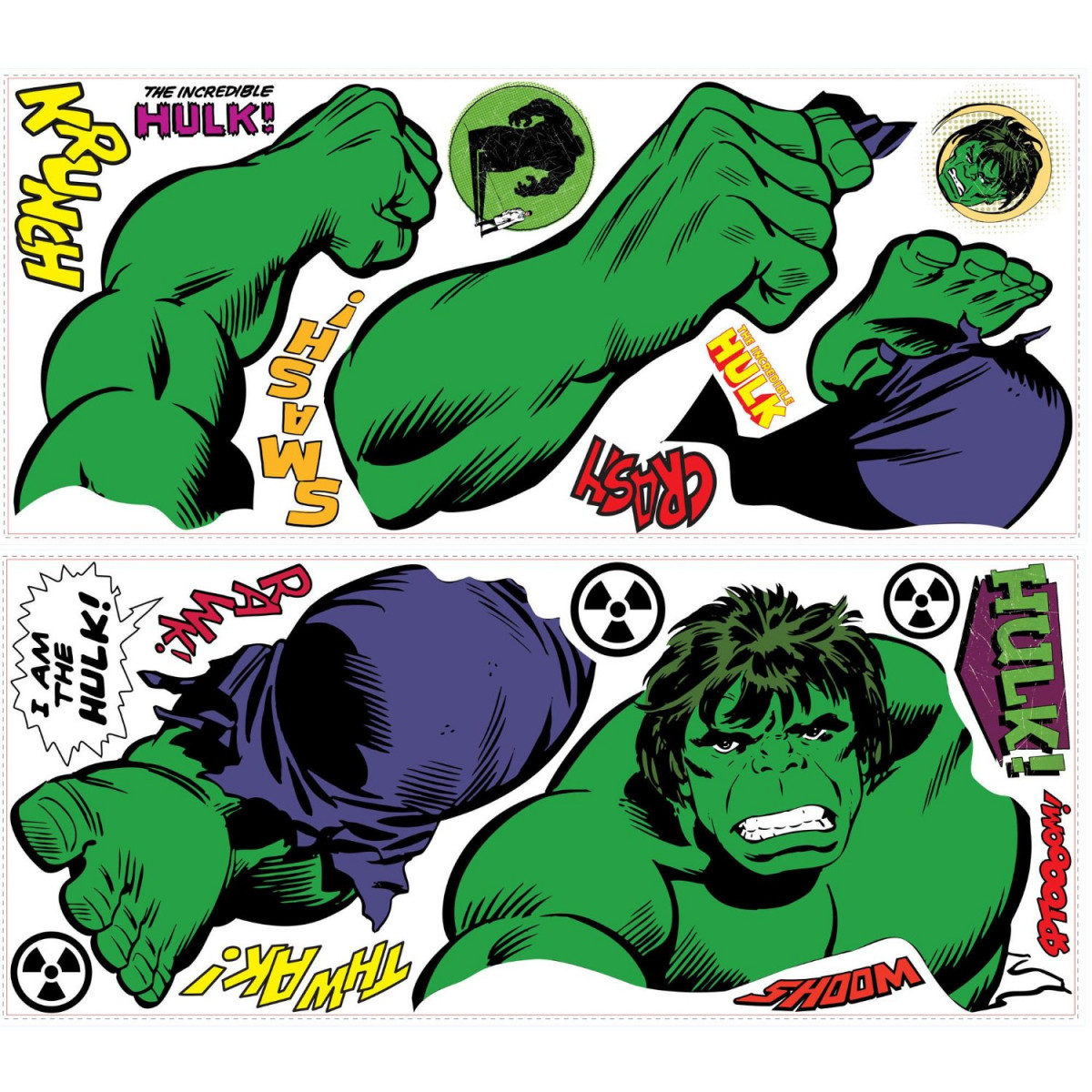 Stickers Géant Hulk Comics Marvel