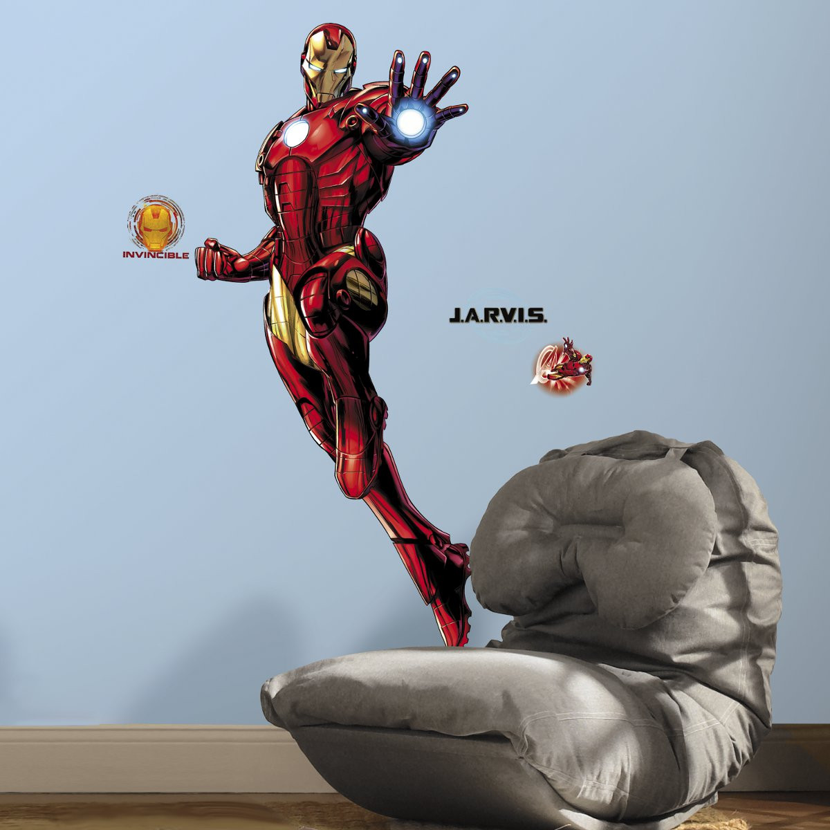 Stickers géant Iron Man Marvel H 130 CM