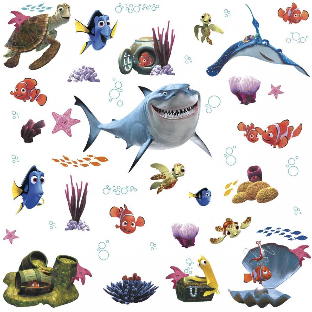 45 Stickers Le Monde de Némo Disney