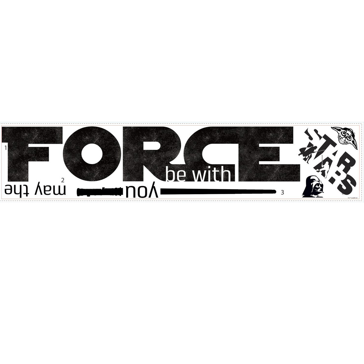 Stickers Géant Star Wars May the Force Be With You