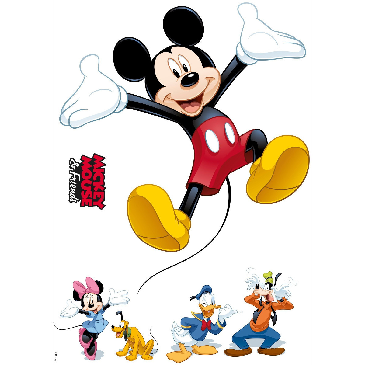 6 Stickers Mickey Mouse et ses amis Disney