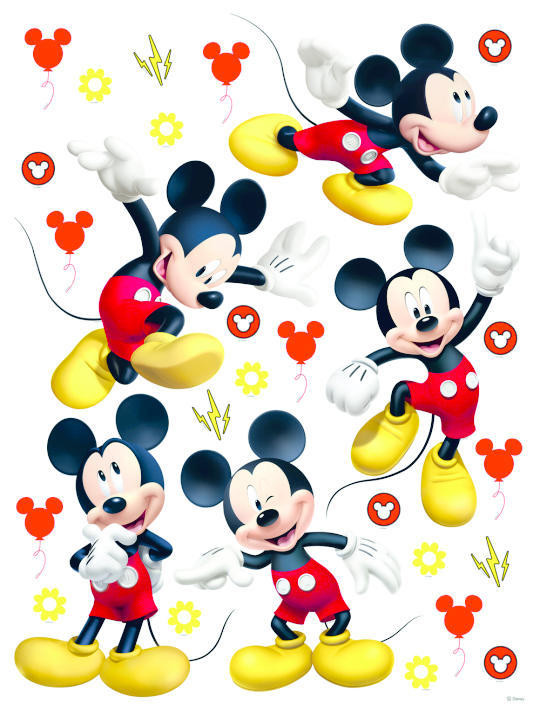 Stickers géant Mickey Mouse Postures Disney