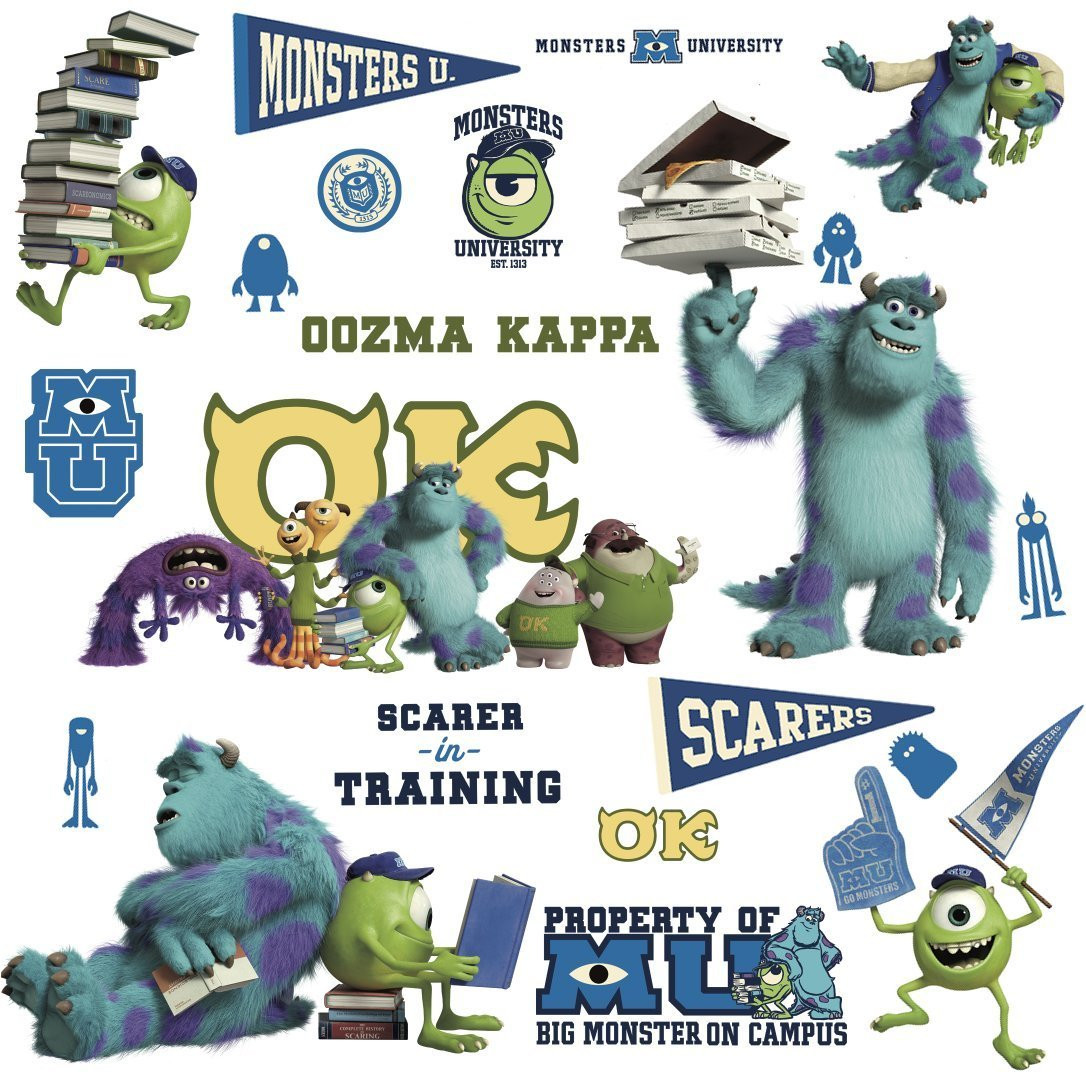 20 Stickers Oozma Kappa Monstres Academy Disney