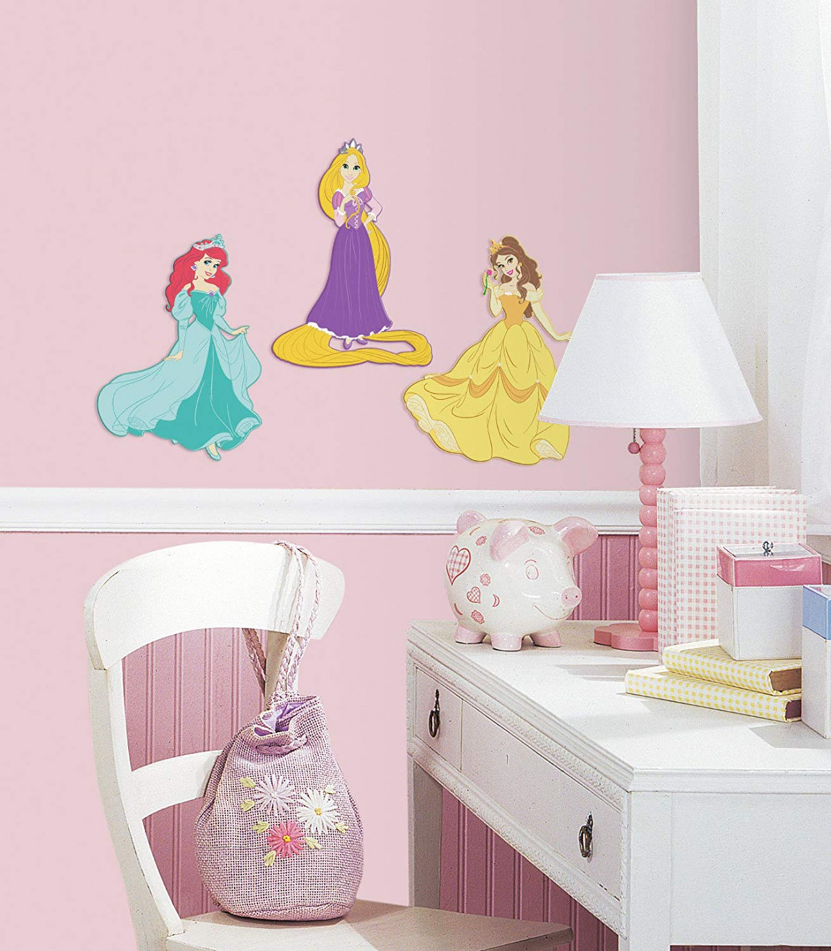 3 Stickers Relief Mousse Princesses Disney  25 cm