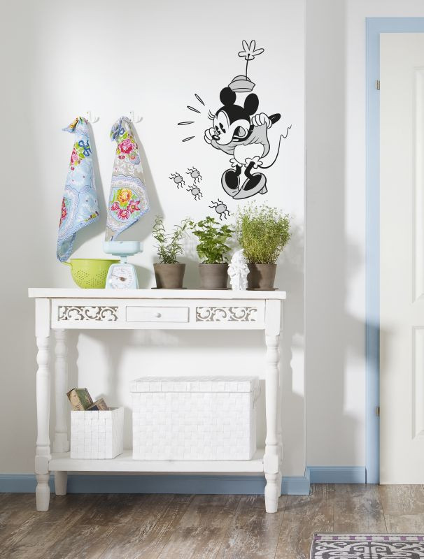 Stickers Noir et Blanc Minnie Mouse Disney
