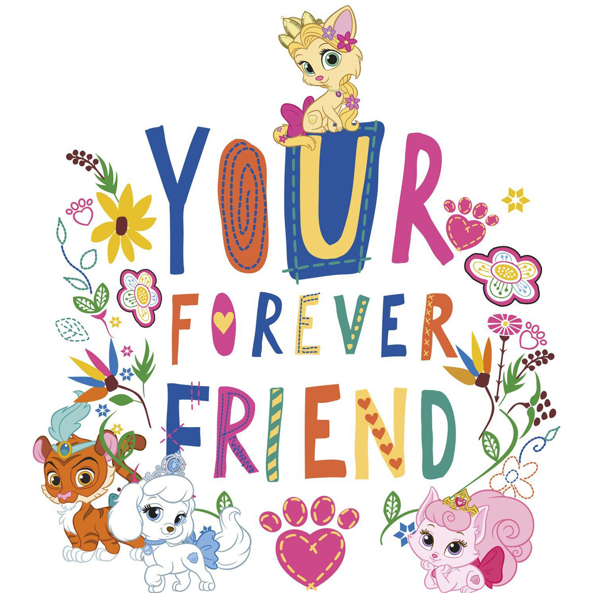 Stickers Friend Princesse Disney Palace Pets Repositionnables