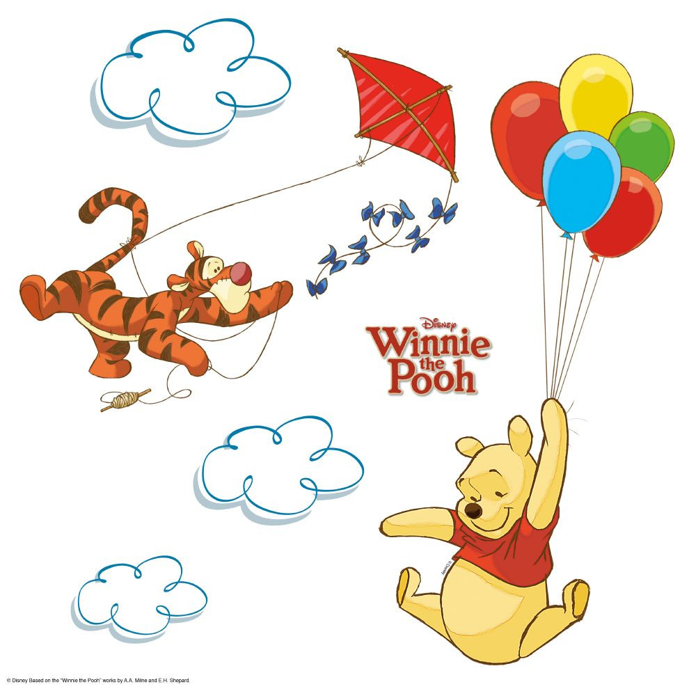 13 Stickers pour vitre Winnie l'Ourson Disney