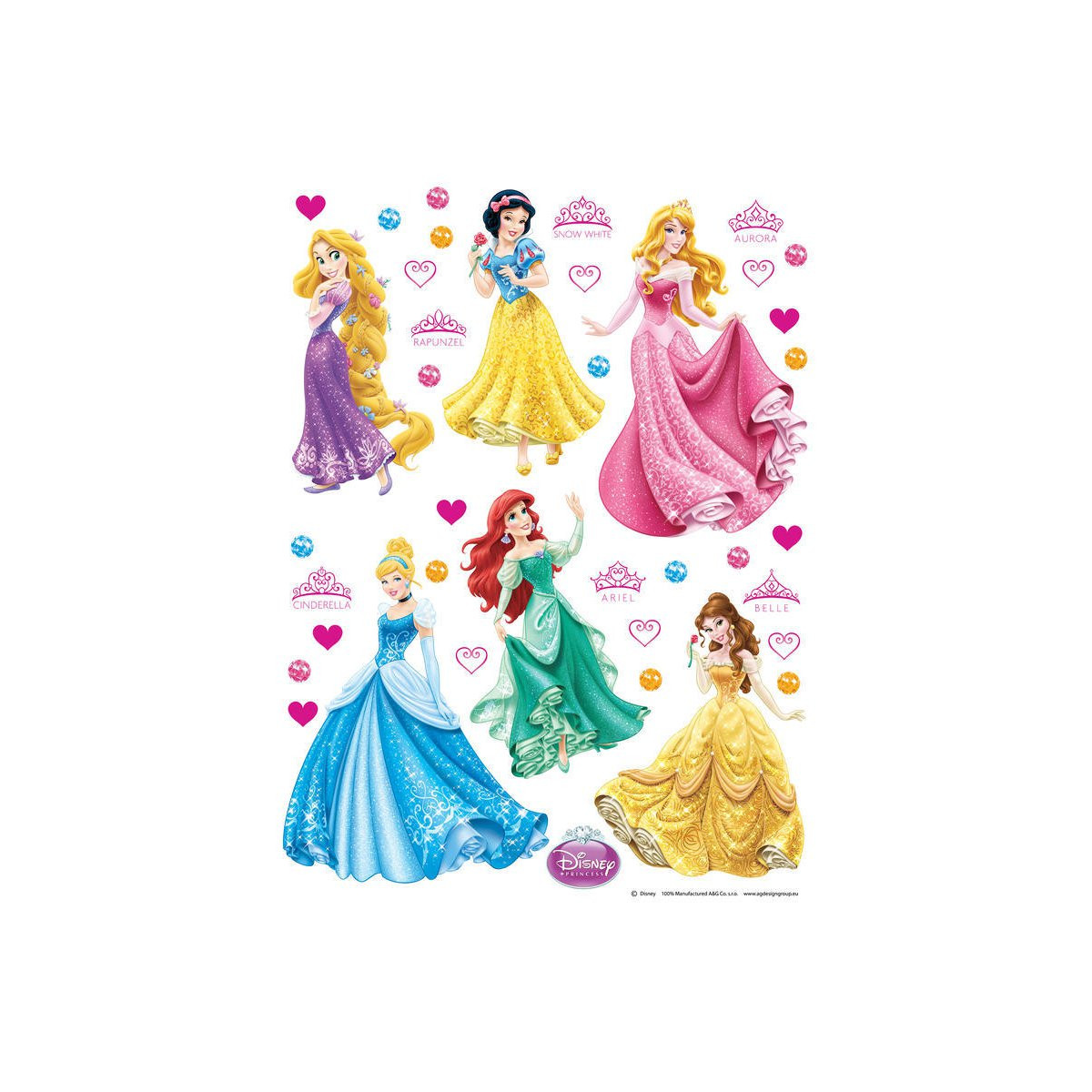 Stickers géant Princesses Disney 42.5 x 65 cm