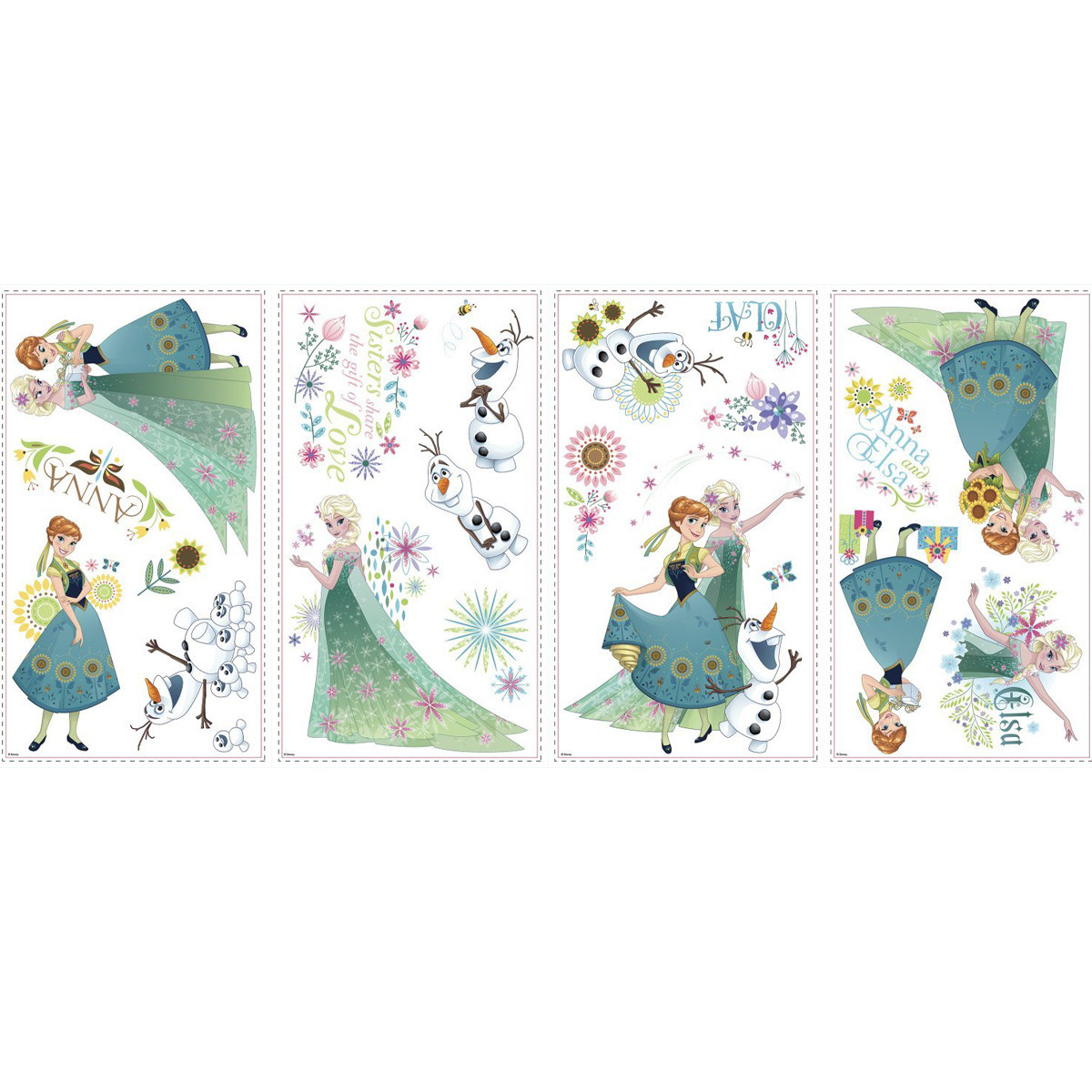 19 Stickers Printemps La Reine des Neiges Disney Frozen