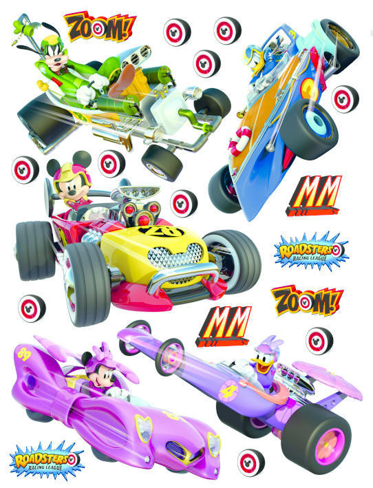 Stickers géant Mickey Racers Disney