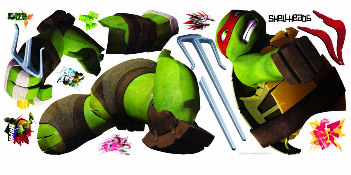 Stickers géant Raphael Tortues Ninja Nickelodeon H 90 CM