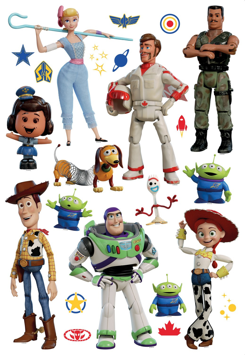 Stickers repositionnables Disney Toy story 4