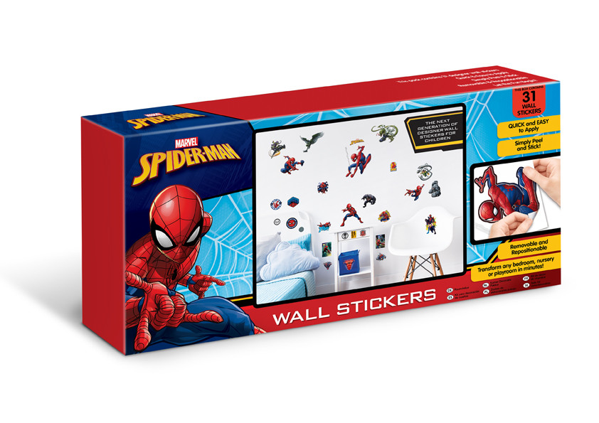 31 Stickers Spiderman Marvel Walltastic