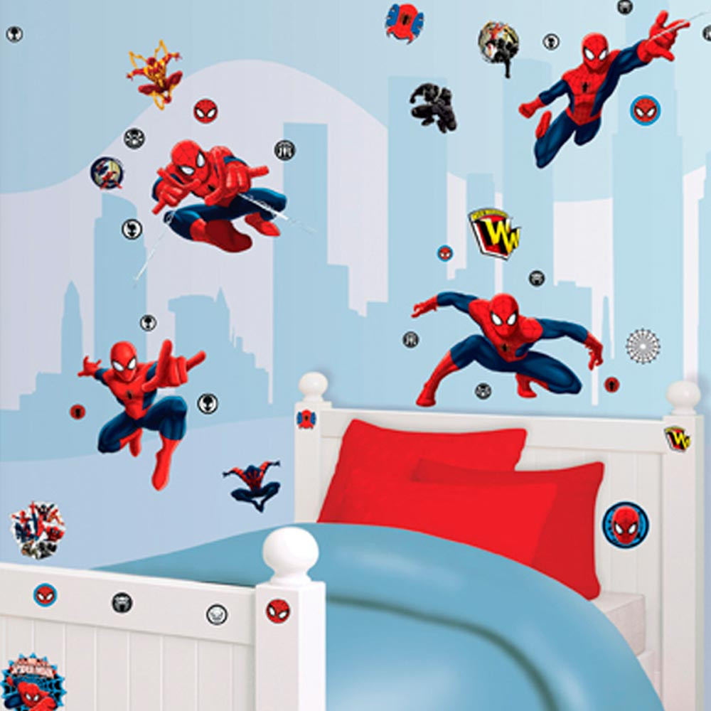 61 Stickers Spiderman Marvel Walltastic