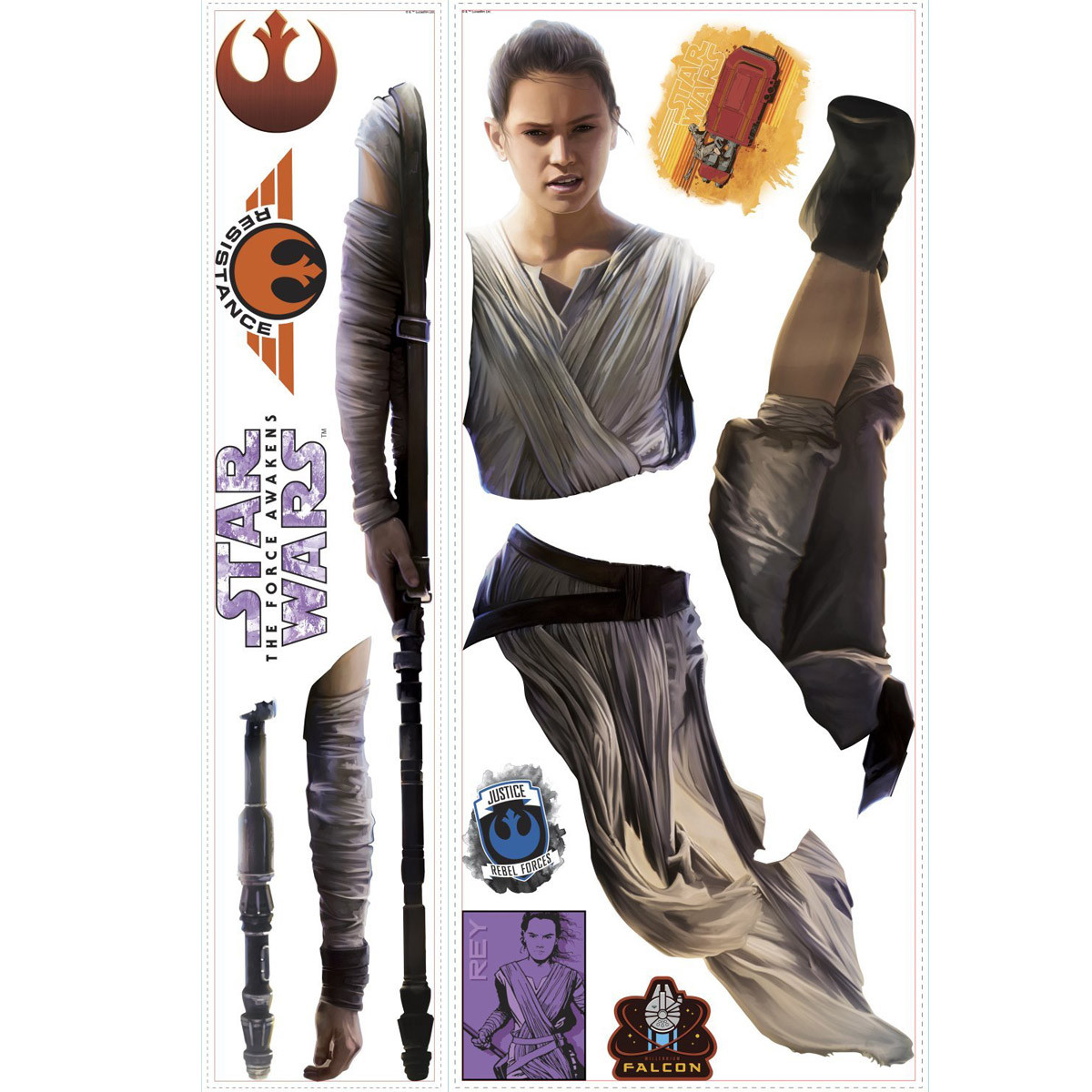 Stickers Géant Rey Star Wars