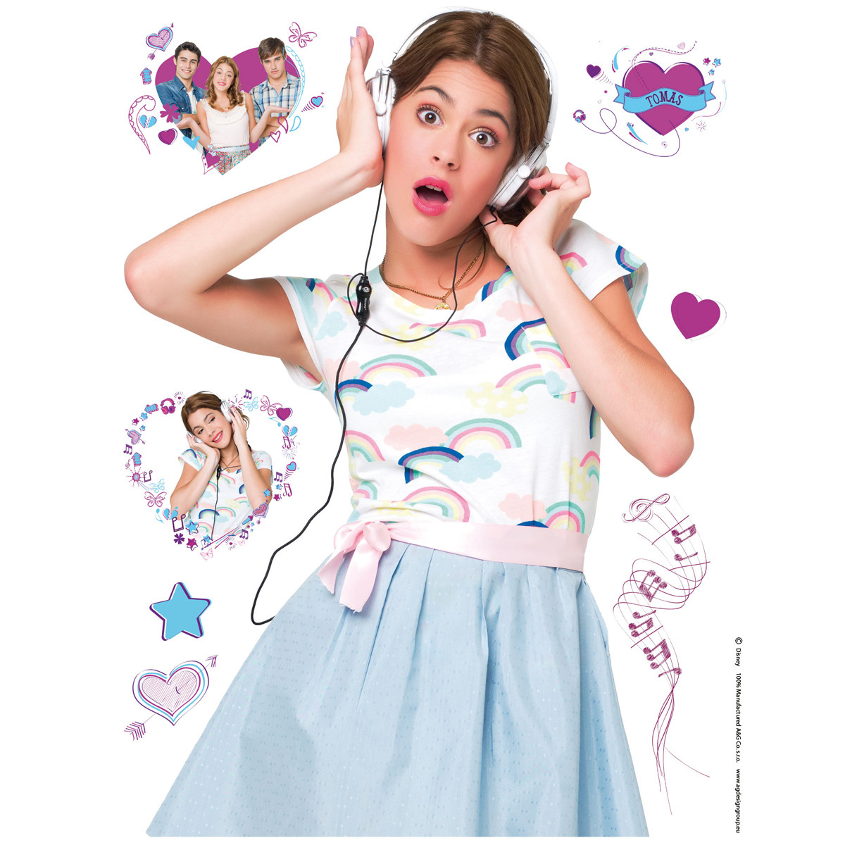 Stickers géant Violetta Disney Channel