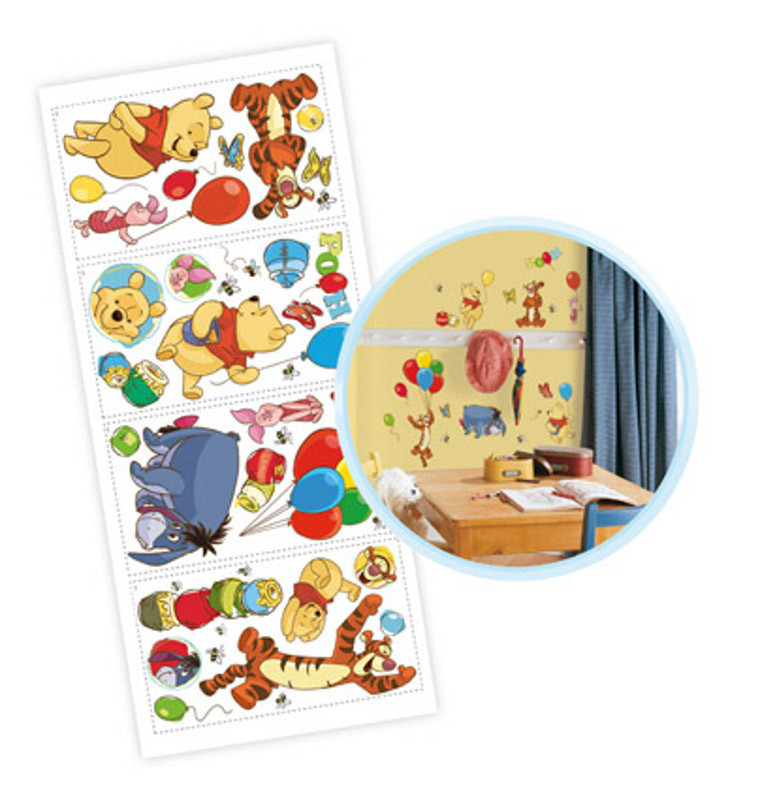 38 Stickers repositionnable Winnie l'Ourson Disney
