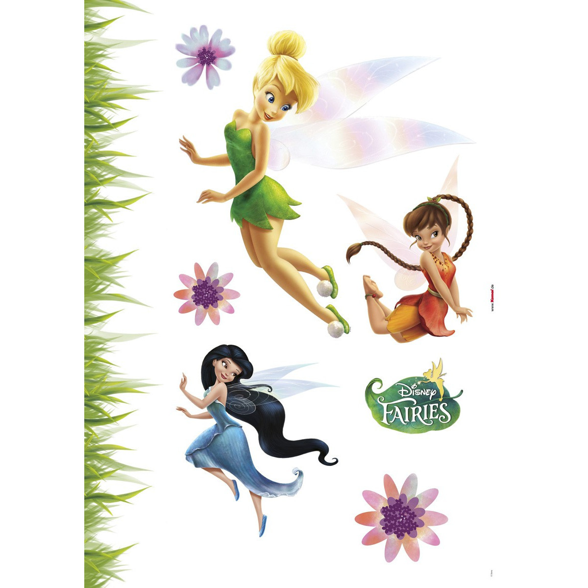 8 Stickers Fée Clochette repositionnable Disney fairies