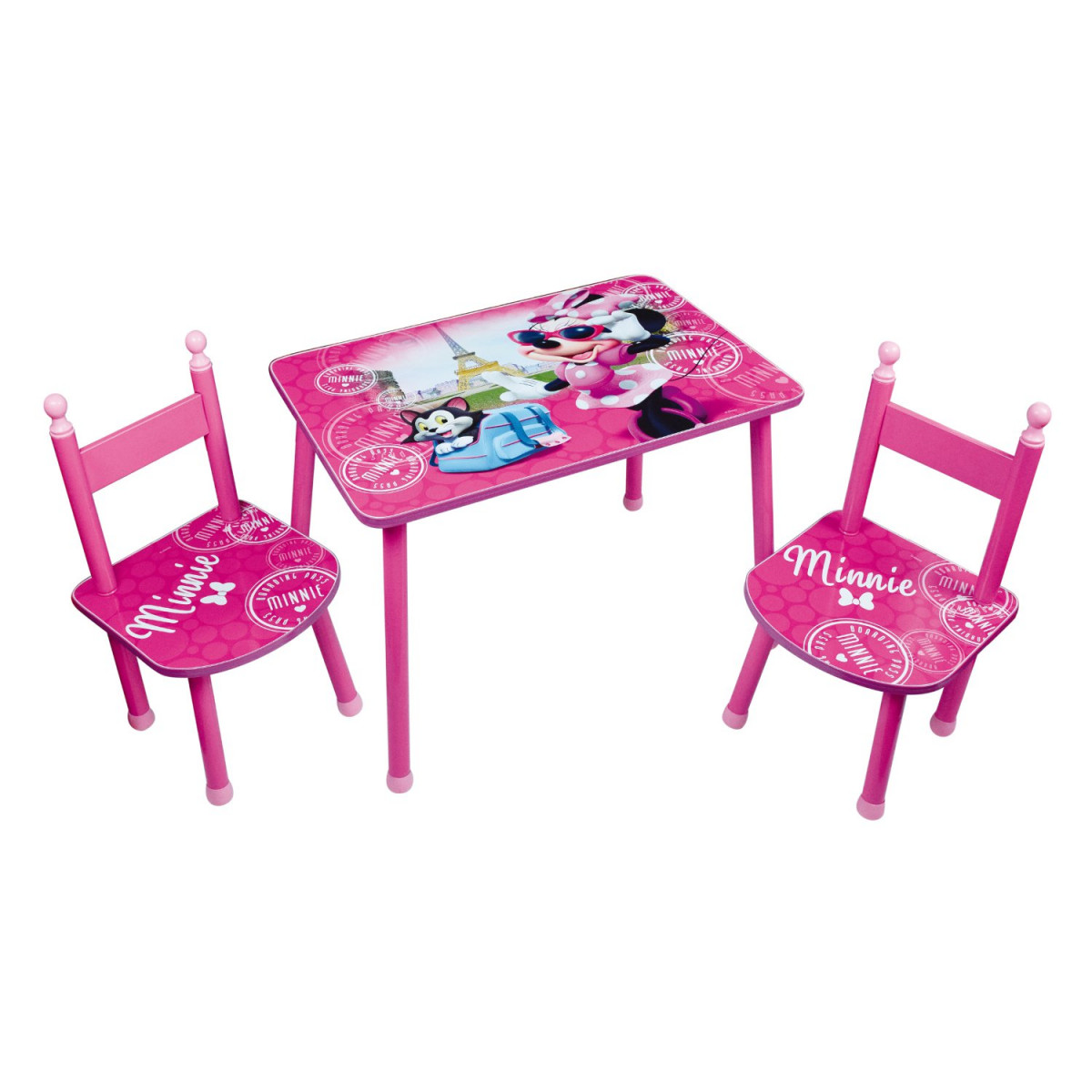 Ensemble table et  chaises Minnie Disney
