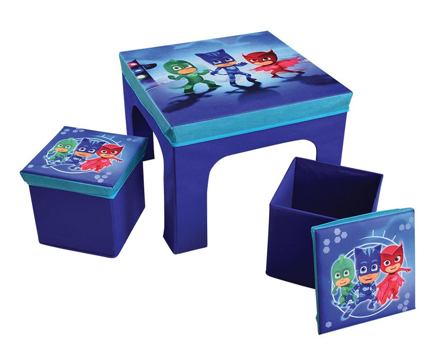 Table 2 tabourets tissus pliables pyjamasques