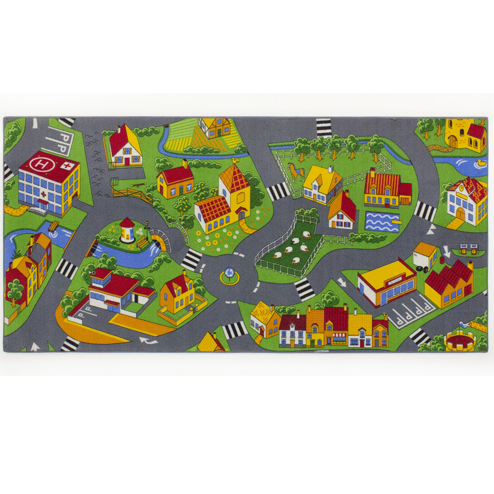 Tapis circuit Little Village -Tapis : 95 x 200 cm