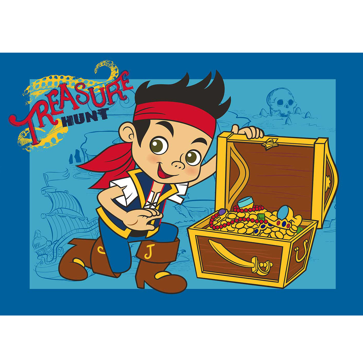 Tapis Jake et les Pirates du Pays Imaginaire Disney treasure