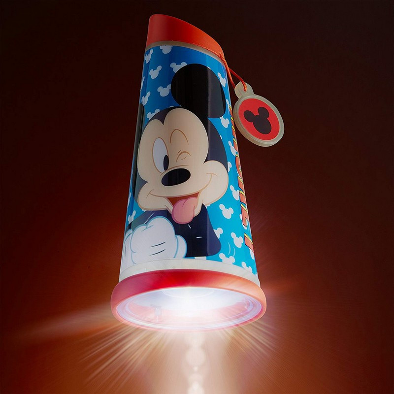 Veilleuse lampe torche nomade bleue Mickey Mouse Disney