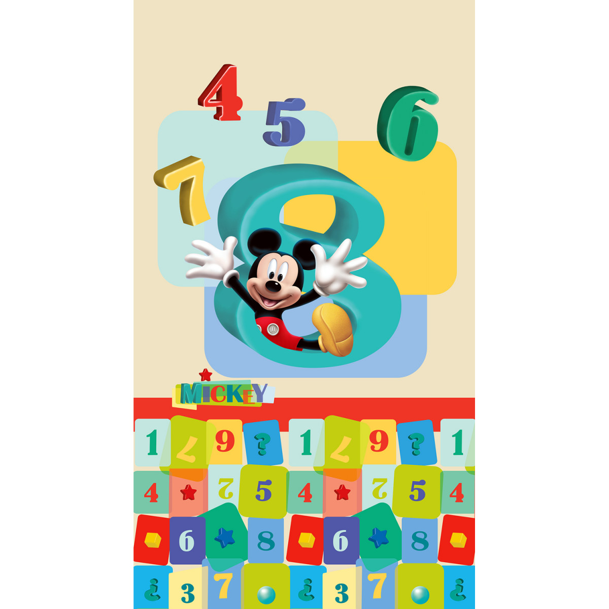 Rideau occultant taille L Mickey Mouse