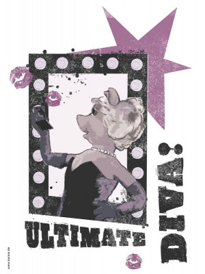"Stickers Walt Disney ""Ultimate Diva"""