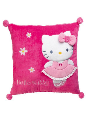 Coussin carré Hello Kitty ballerine