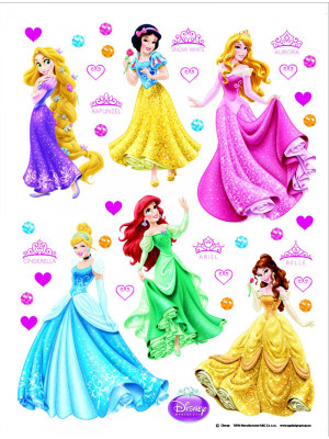 Stickers géant Princesses Disney