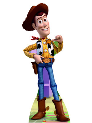 Figurine en carton taille réelle Woody Toy Story