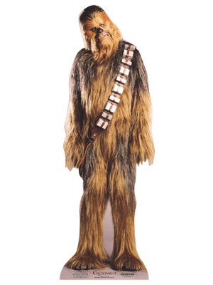 Figurine en carton taille réelle Chewbacca Star Wars