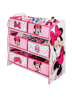 Meuble de rangement Rose 6 casiers motif Minnie mouse