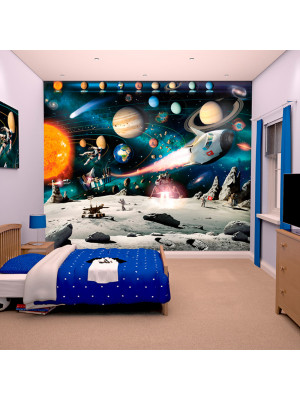 stickers aventure spatiale walltastic sticker sur. Black Bedroom Furniture Sets. Home Design Ideas