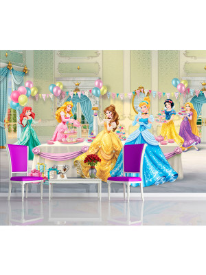 Papier peint Anniversaire Princesse Disney 360X255 CM
